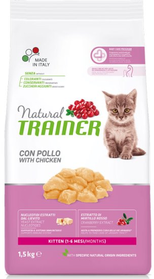 Trainer Natural Kitten With Fresh Chicken (для котят от 1 до 6 мес)